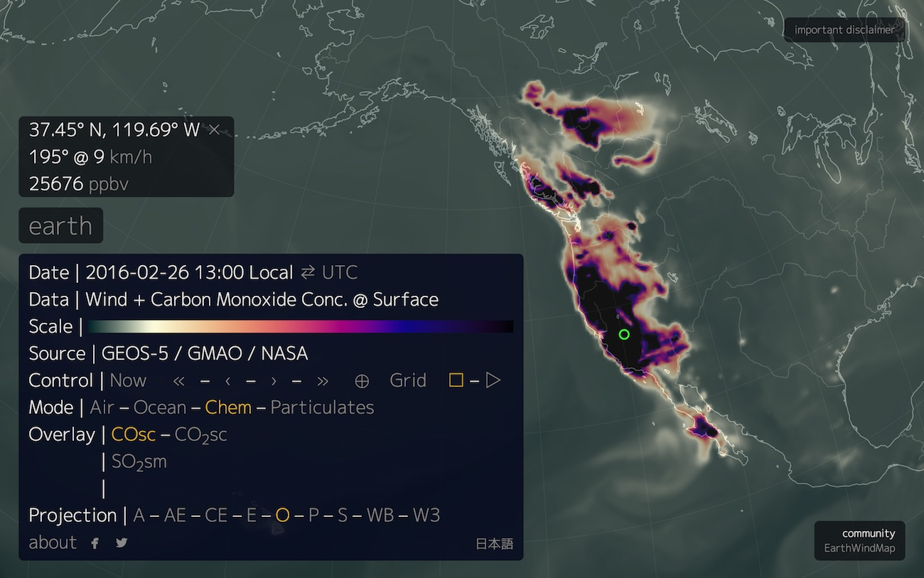 Bad Data Carbon Monoxide Eruption Over Western North America Not Real